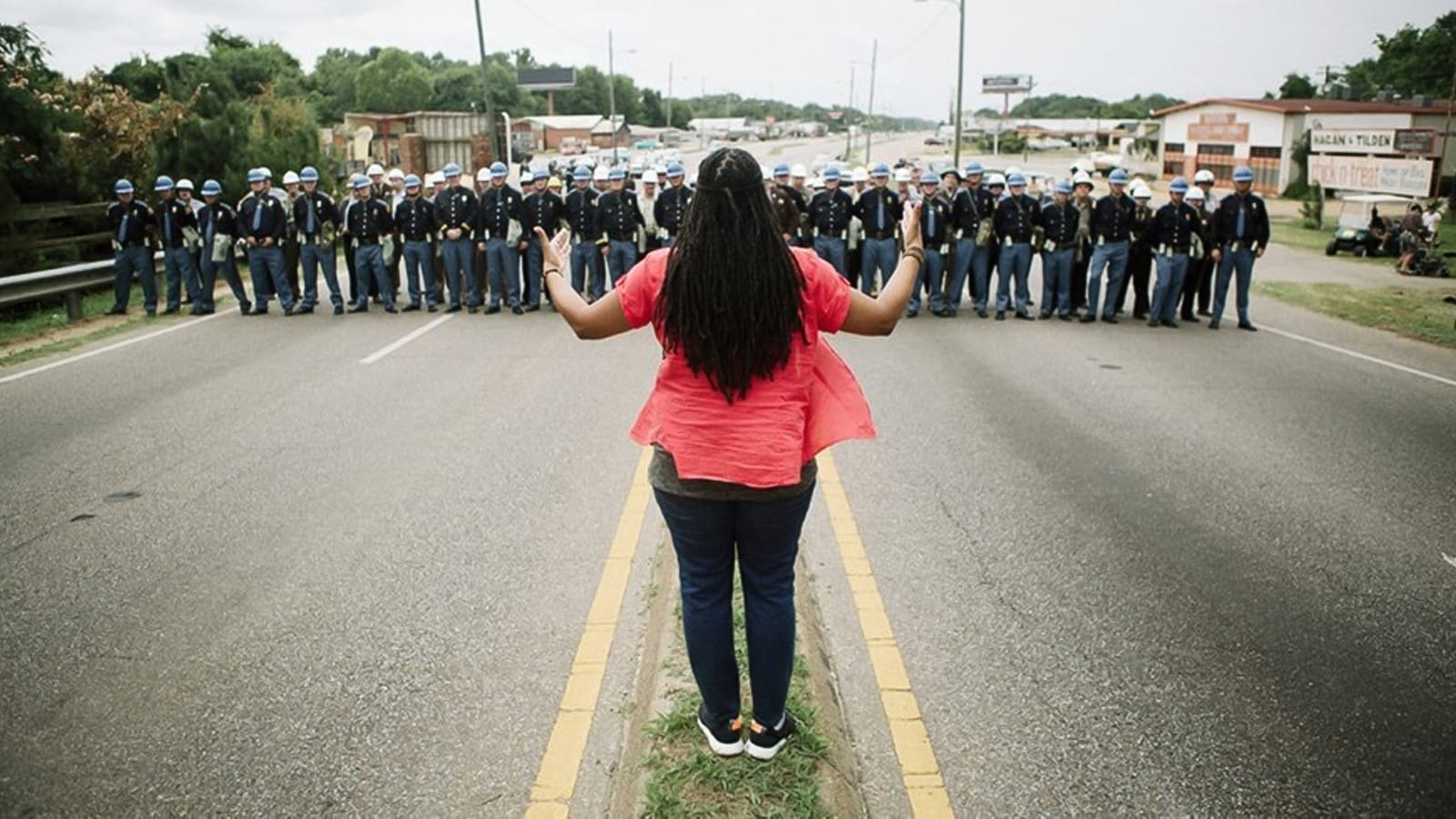 Ava DuVernay directs a scene from the film Selma