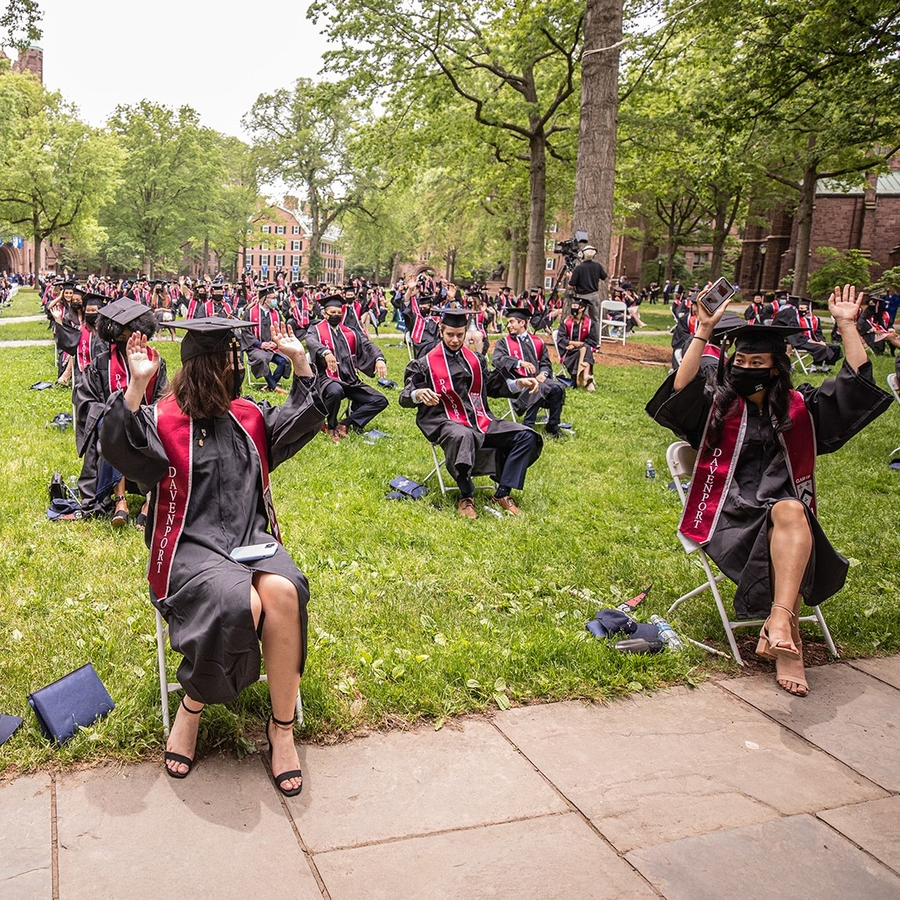 Scenes from Yale College Commencement 2021